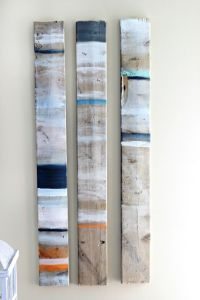 Coastal wall art, Pallet wood and Old pallets on Pinterest