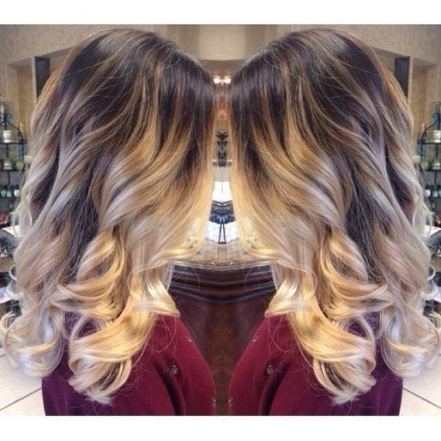 loveee this coloring. like and ombre but higher up, looks really pretty: