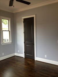 Sherwin Williams Lazy Gray and Urbane Bronze on doors and ...