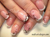 Cherry Blossom nail art | Belleza - Uas: Esmaltes y nail ...