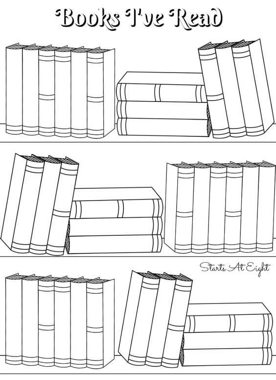 FREE Printable Books I've Read Log from Starts At Eight