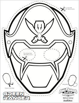 SUPER MEGA Power Rangers Printable Coloring Masks