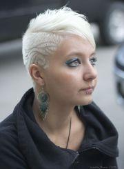 beautiful platinum blonde shaved