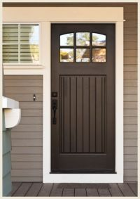 front door color with gray siding | black doors give even ...