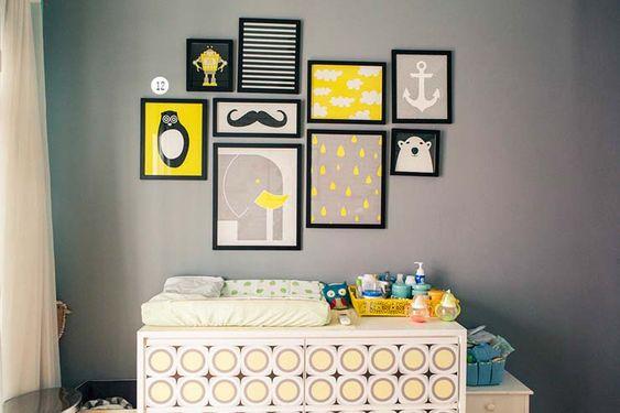 Inspiração: Decoração em Cinza e Amarelo: