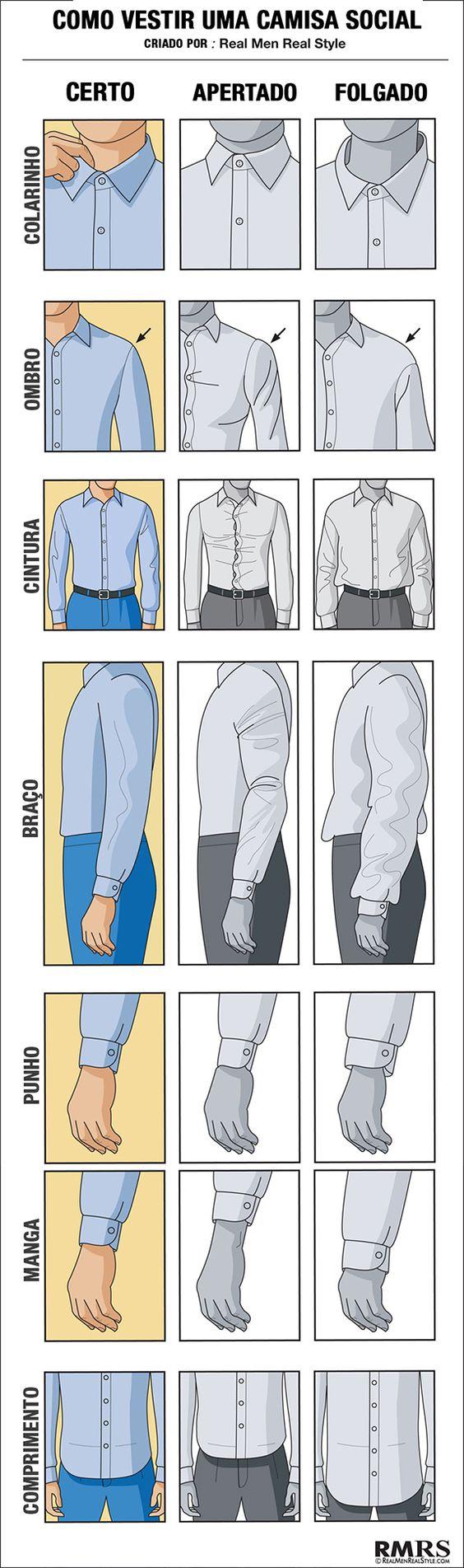 Como vestir uma camisa #estilo #modamasculina #camisa:
