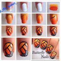 Nail art DIY - hand drawn, hand painted, nail art tutorial ...