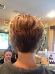 stacked haircut hair