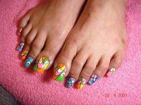 Long Acrylic Toes - Nail Art Gallery nailartgallery ...
