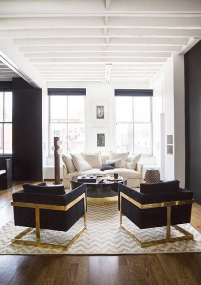 black chairs and coffee table