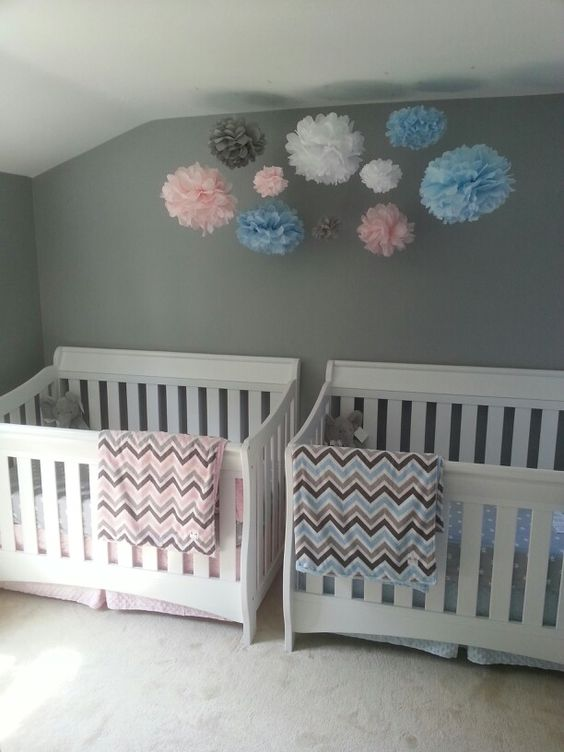 Challenging Quotes Wallpaper Boy Girl Twin Nursery Twins Nursery Pinterest Boys