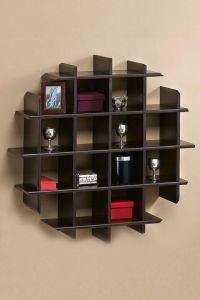 Home Design, Wooden Unique Wall Shelves Design: Modern ...