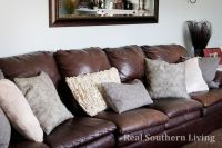Pillows for brown leather couch | Home ideas | Pinterest ...