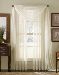 Sheer Curtains for Large Windows | Platinum Voile Flowing ...