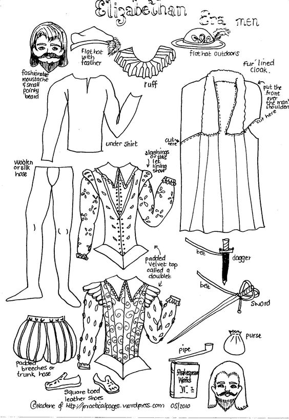 Elizabethan era, Paper dolls and Dolls on Pinterest