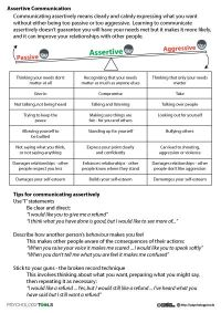 Assertive communication worksheets http://psychology.tools ...
