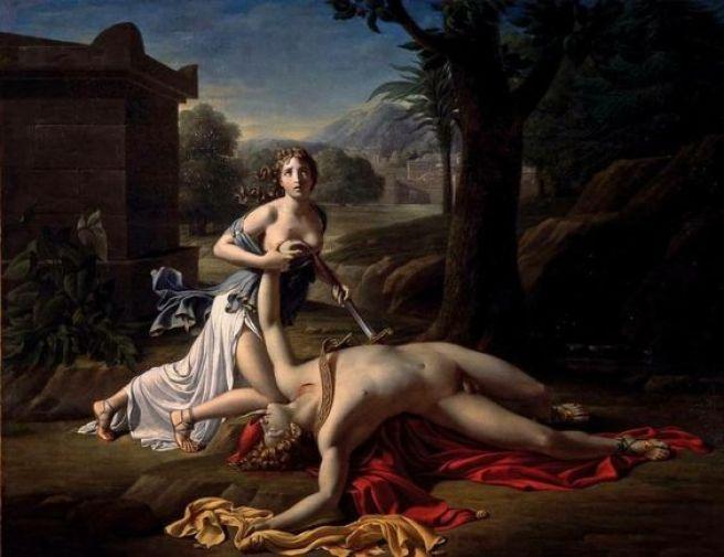"""""""Píramo y Tisbe"""" obra de Pierre Claude Gautherot, año 1799.:"""