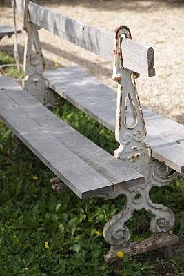 Double Sided Chippy White Bench Funky Junk Pinterest To Tell Search And Rustic