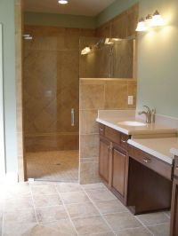 Walk-In Showers without Doors | ... Shower Doors | Corner ...