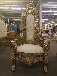 Mahogany King Lion chair Gothic Throne Chair Gold and ...