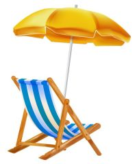 Beach Umbrella with Chair PNG Clipar | Summer Vacation PNG ...
