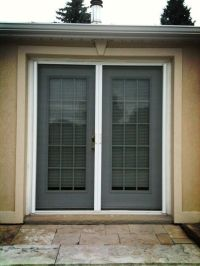 Retractable Screens on double French Door.