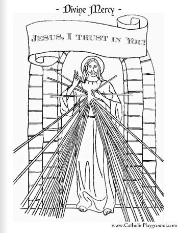 Divine Mercy Prayer Clip Art