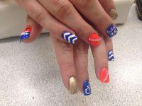 OKC Thunder nail design!! | Nail designs | Pinterest ...