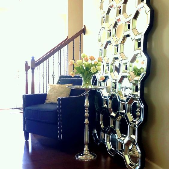 Add our Axis Floor Mirror to your entryway