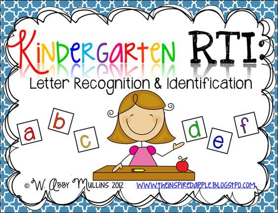 Kindergarten Rti Letter Recognition & Identification  Inspired First Grade  Pinterest  Good