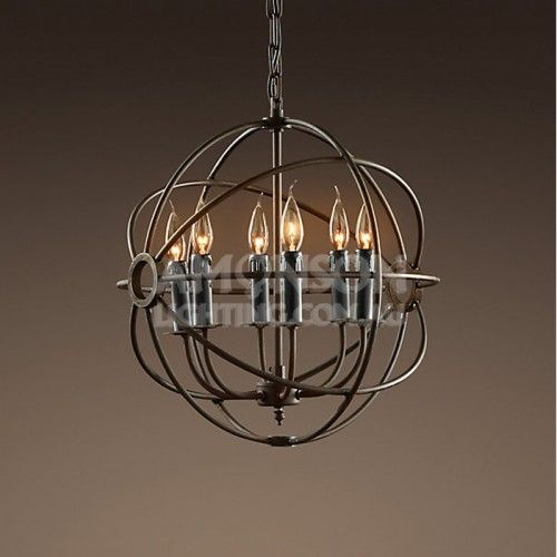 Rustic irons, Orb chandelier and Iron chandeliers on Pinterest