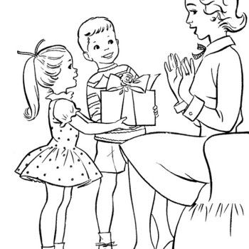 Coloring pages for kids, Coloring pages and Mother day