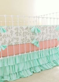 We adore mint green in a baby girl nursery! How perfect is ...