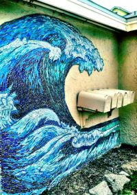 great wave stained glass mosaic mural | Ideas | Pinterest ...