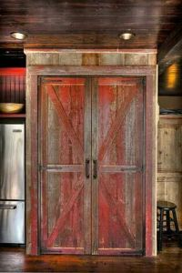 Cabinet ideas, Tv cabinets and Barn doors on Pinterest