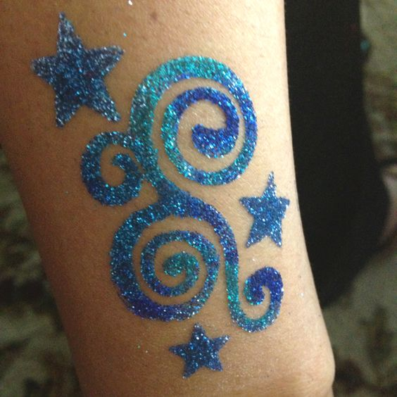 glitter tattoos body art