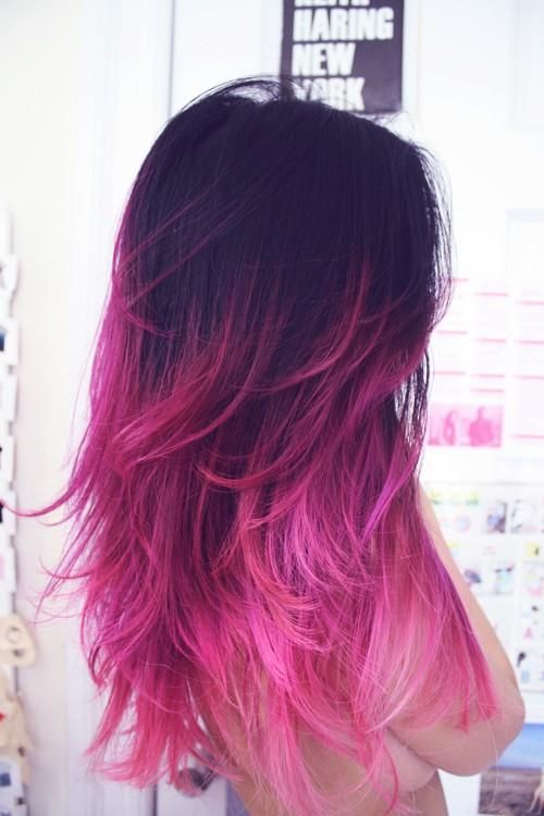 so cool purple and pink hair - you have no idea how much I love this! If only I were 20 years old again, I'd do this in a heartbeat! lol!: