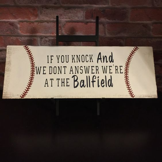 Hey, I found this really awesome Etsy listing at https://www.etsy.com/listing/227665082/baseball-door-hanger: