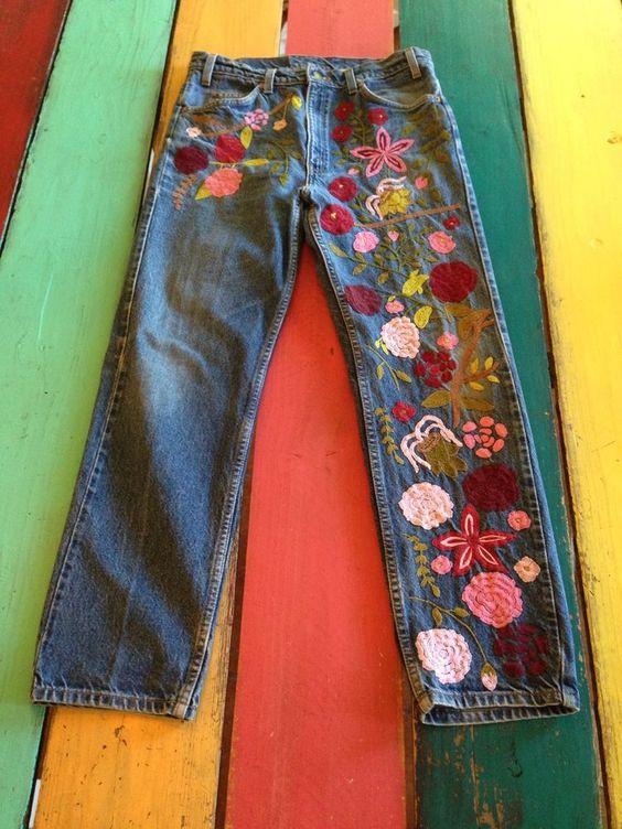 Vintage LEVIS Orange Tab 1970s BoHo Chic Hippie Jeans