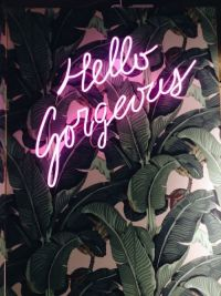 Hello gorgeous, Neon and Light walls on Pinterest