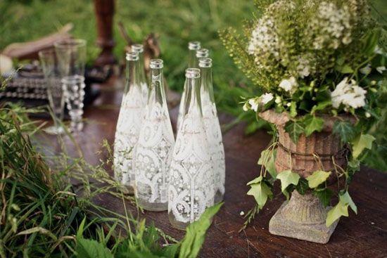 Hochzeit Deko Idee  Spitze ist spitze  Dekoration Deko and Hochzeit