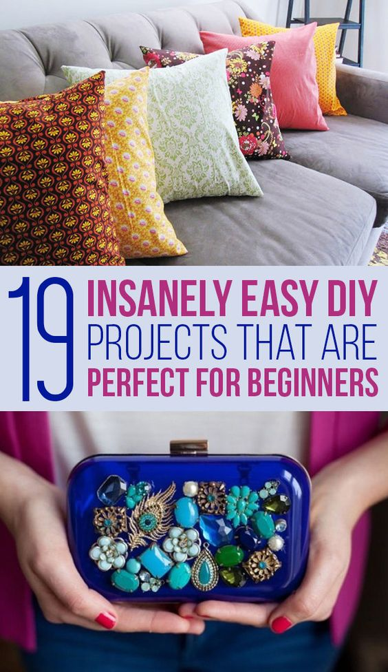 19 Insanely Easy Diy Projects That Are Perfect For Beginners  My Website, Diy And Crafts And Diys