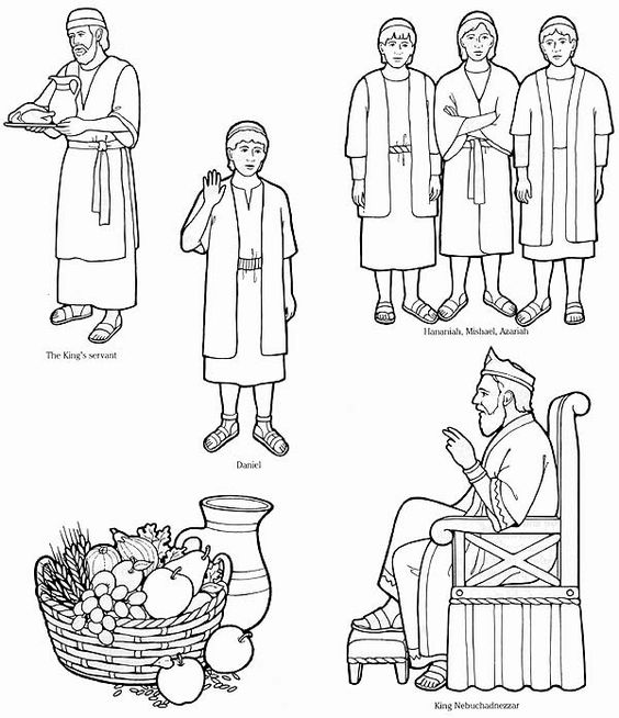 flannel board story cutouts/coloring pages from LDS Church