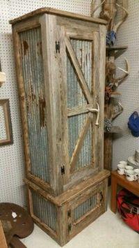 Rustic gun cabinet  | Pinteres