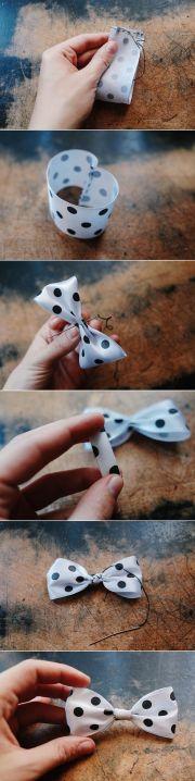 make ribbon bow - 3 ways