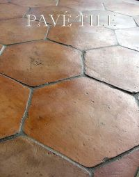 Farmhouse Provenal Tomette Terra Cotta Tile Flooring Size ...
