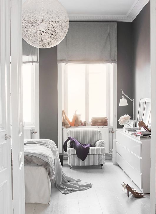 Grey walls Grey and White interiors on Pinterest