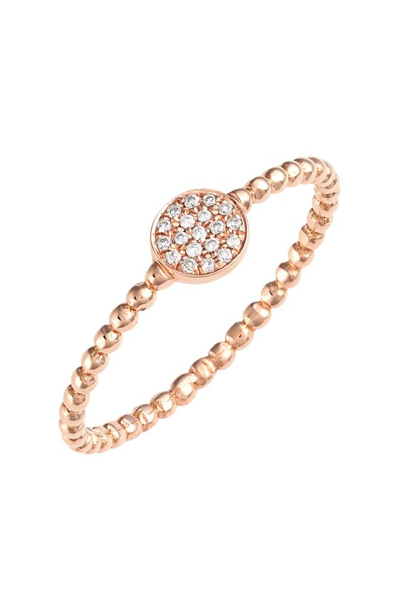 Womens Bony Levy Aurora Diamond Pave Circle Ring