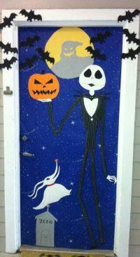 Nightmare before Christmas door decor for Halloween. DIY ...