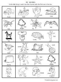 printable worksheets rhymes rhyming fun preschool ...